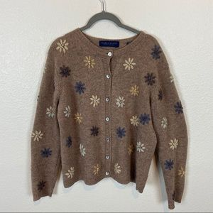 Vintage Made in Australia Wool Embroidered Cardi